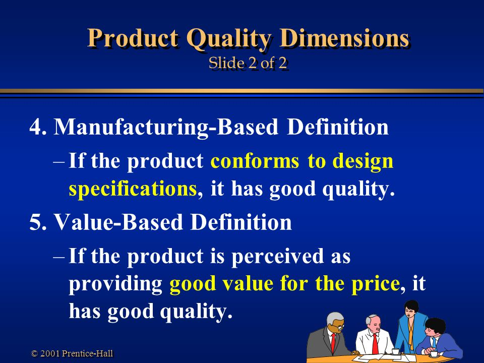 Product Quality Dimensions Slide 2 of 2