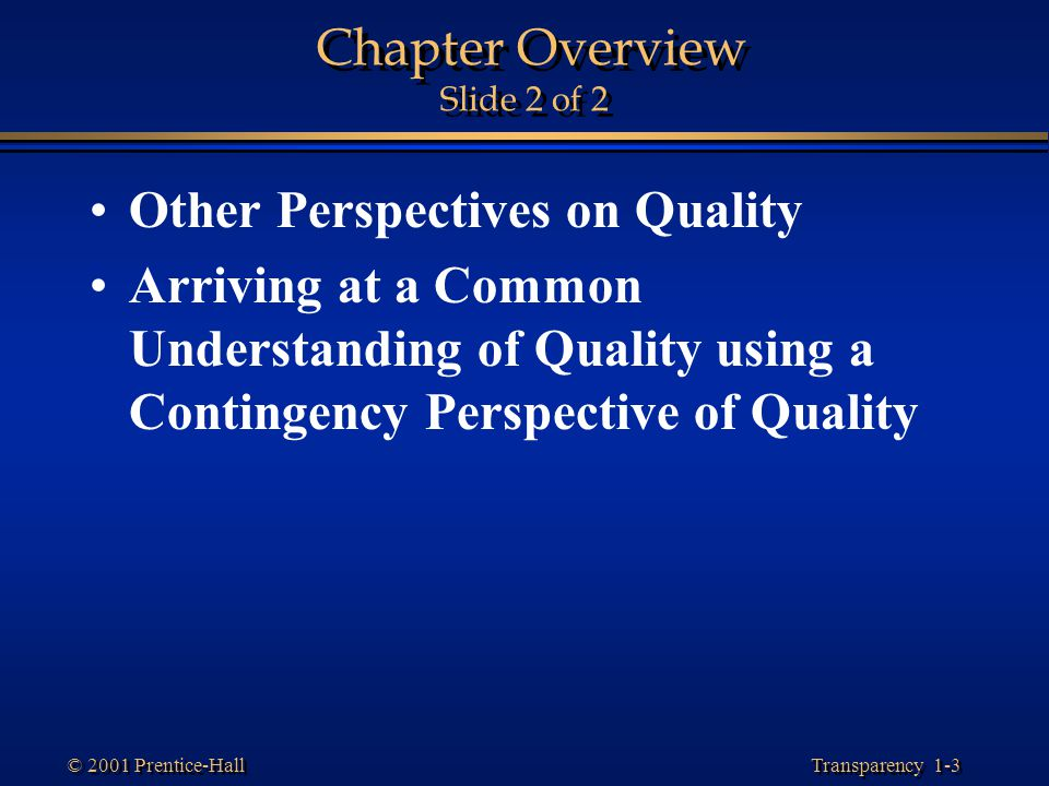 Chapter Overview Slide 2 of 2