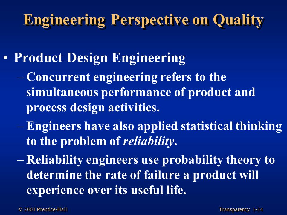 Engineering Perspective on Quality