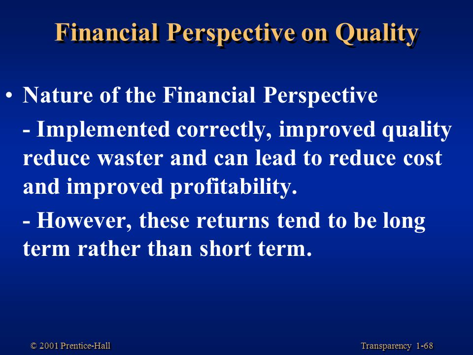 Financial Perspective on Quality