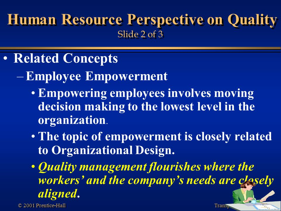 Human Resource Perspective on Quality Slide 2 of 3