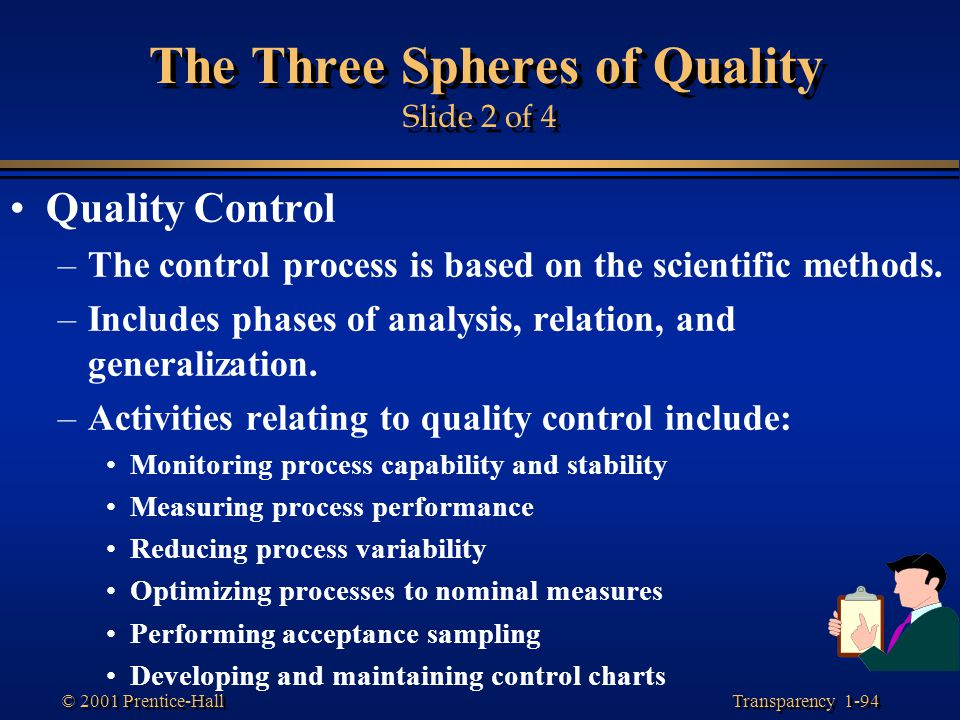 The Three Spheres of Quality Slide 2 of 4