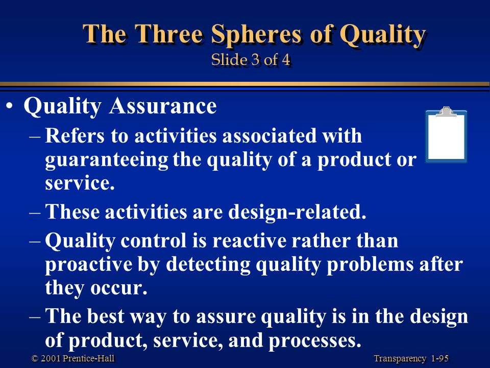 The Three Spheres of Quality Slide 3 of 4