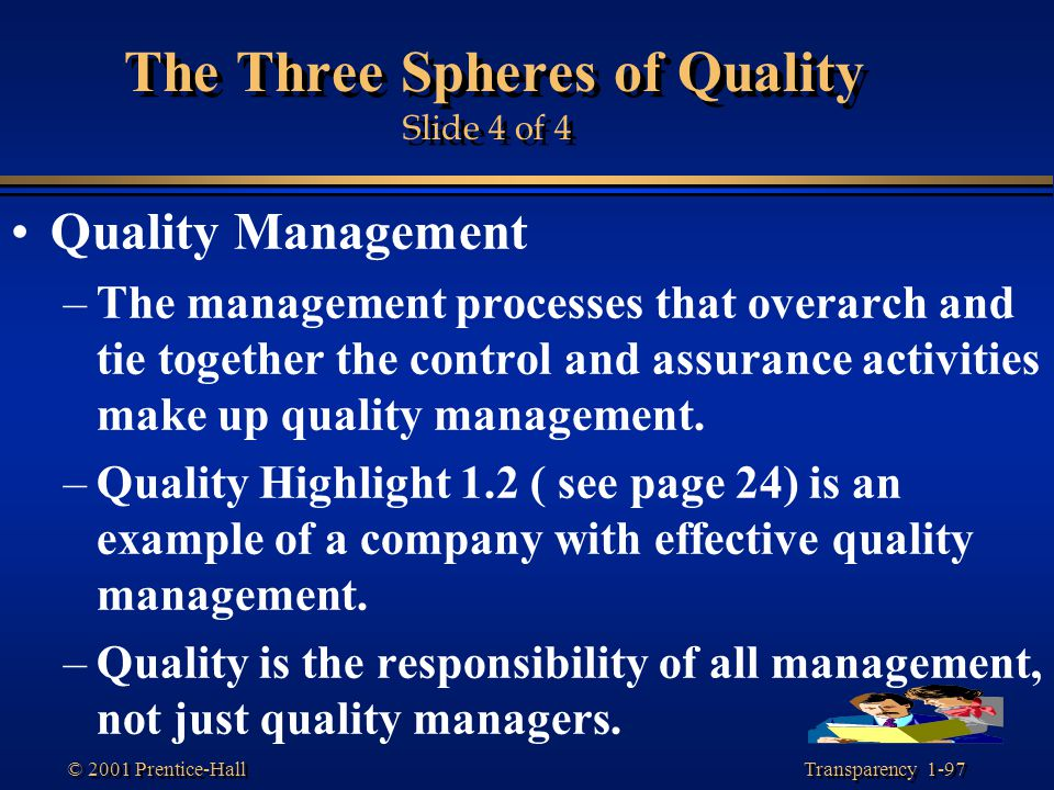 The Three Spheres of Quality Slide 4 of 4