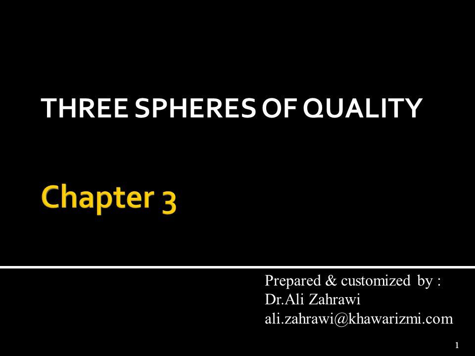 THREE SPHERES OF QUALITY
