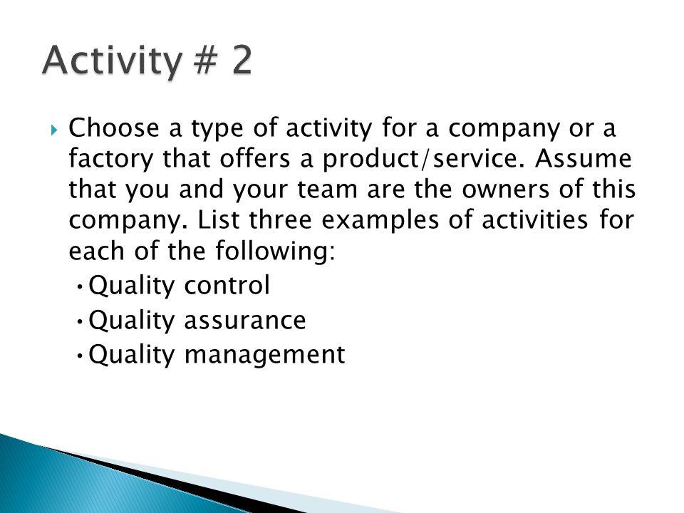 Activity # 2