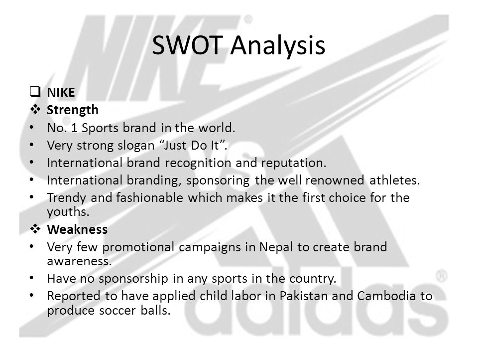 nike business analysis essay A comparative analysis of strategies and business models of nike, inc and adidas group with special reference to competitive advantage in the context of a.