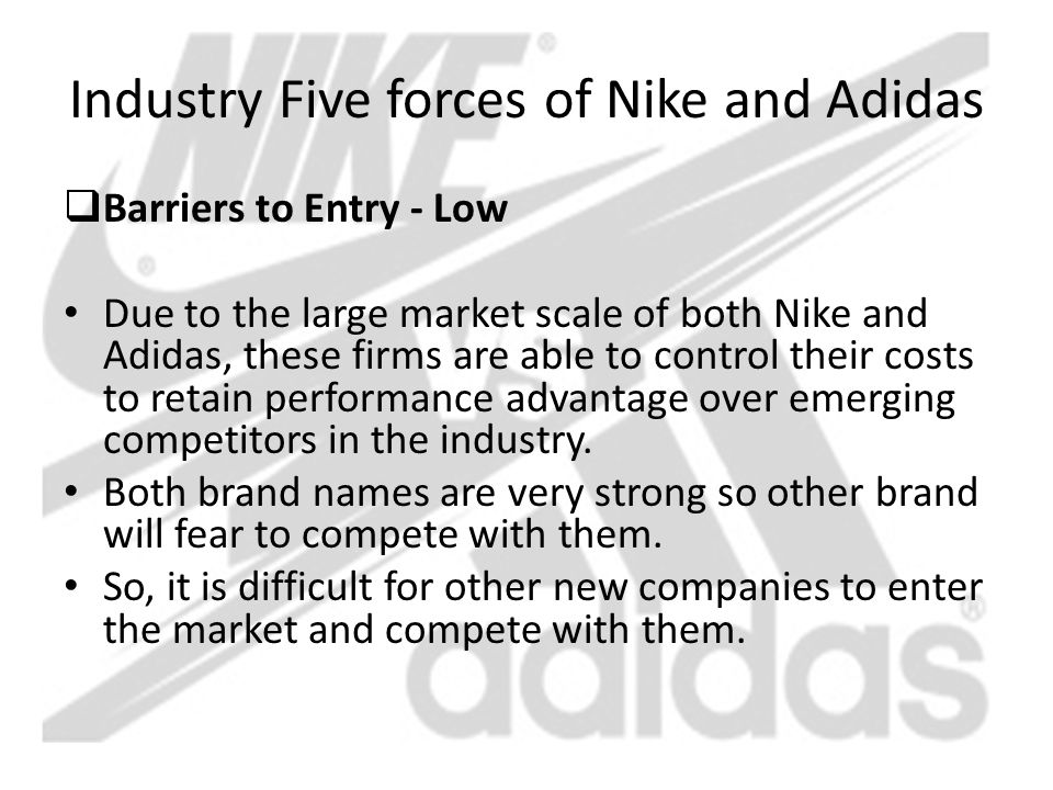 "porter five forces adidas The five forces model is one way to answer the first basic question in strategic management ""why are some industries more attractive than others."