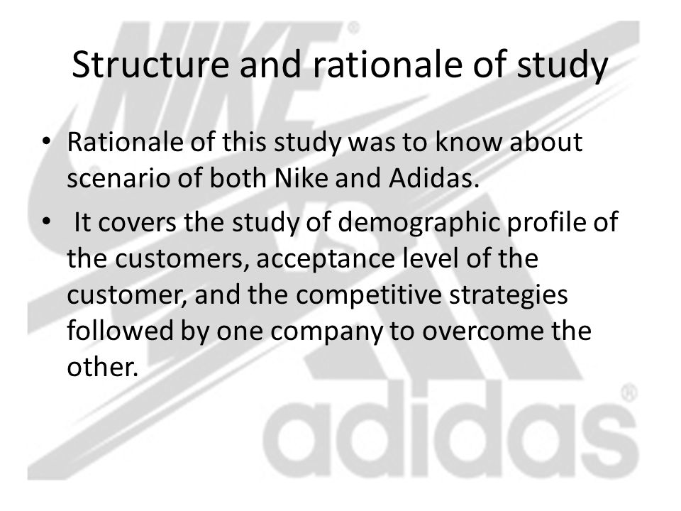 Structure and rationale of study