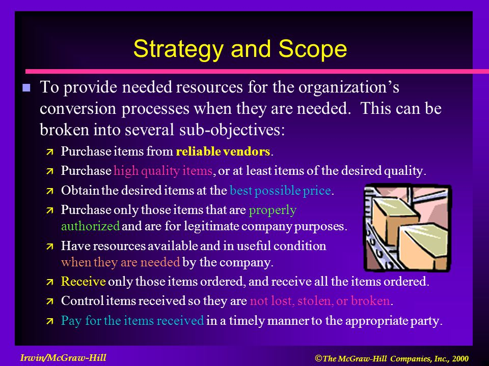 Strategy and Scope