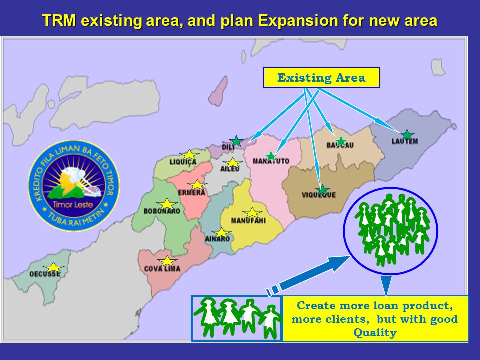TRM existing area, and plan Expansion for new area