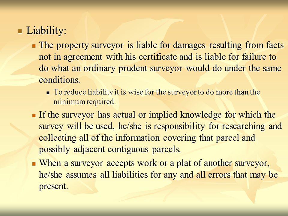 Liability: