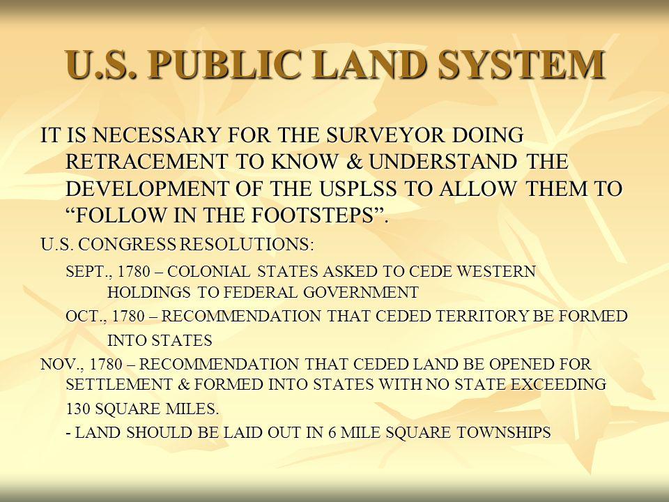 U.S. PUBLIC LAND SYSTEM