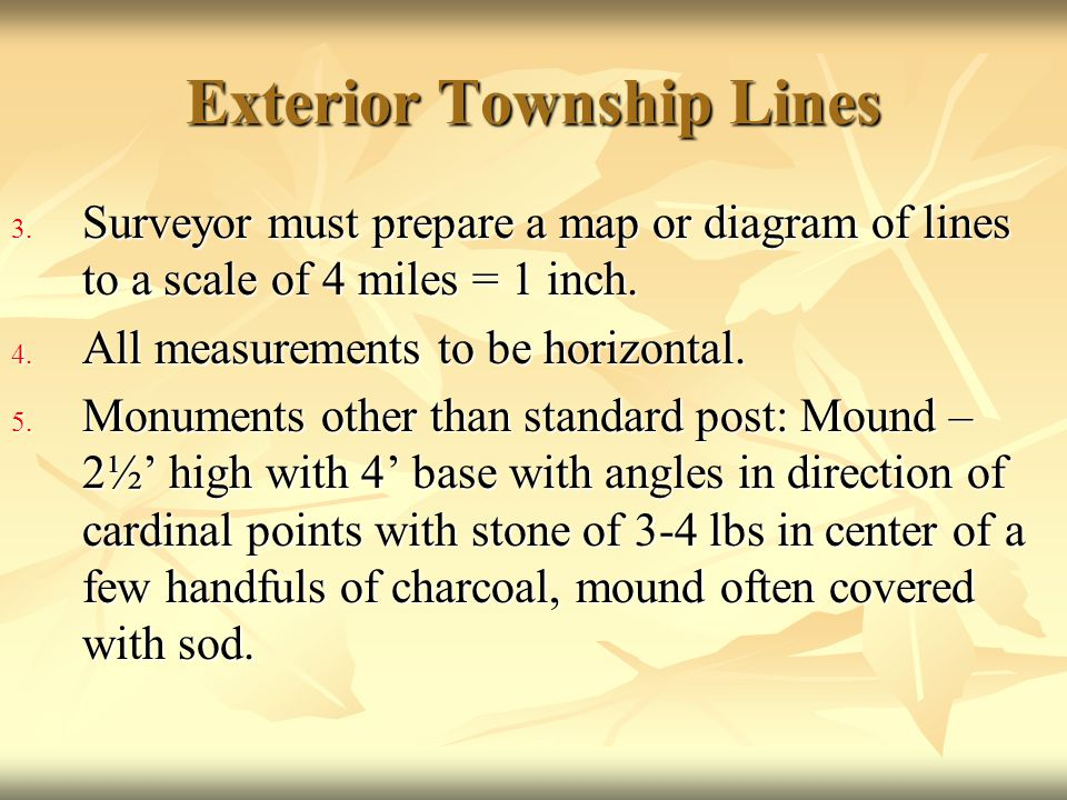Exterior Township Lines