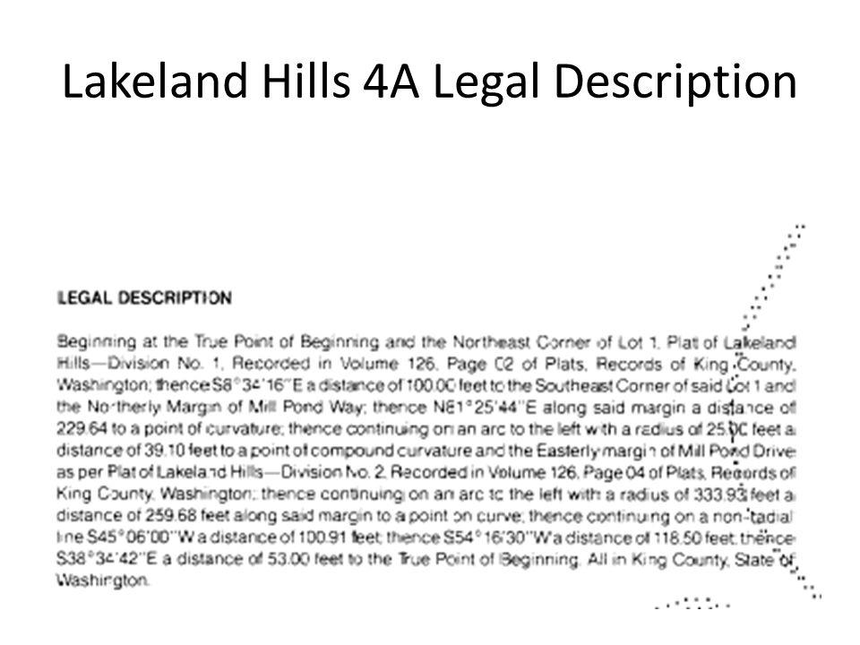 Lakeland Hills 4A Legal Description