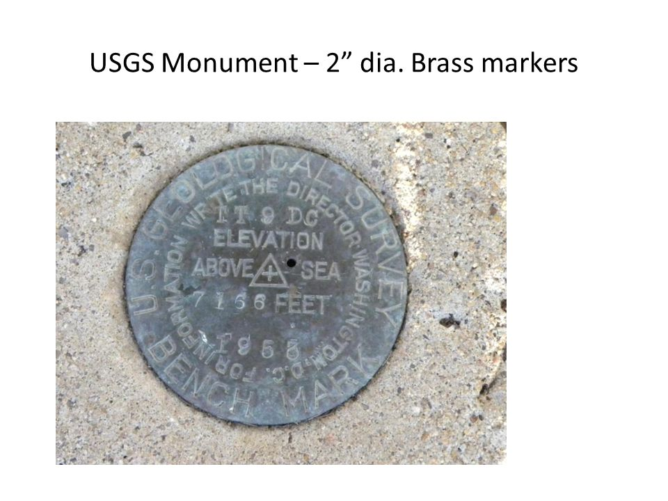 USGS Monument – 2 dia. Brass markers