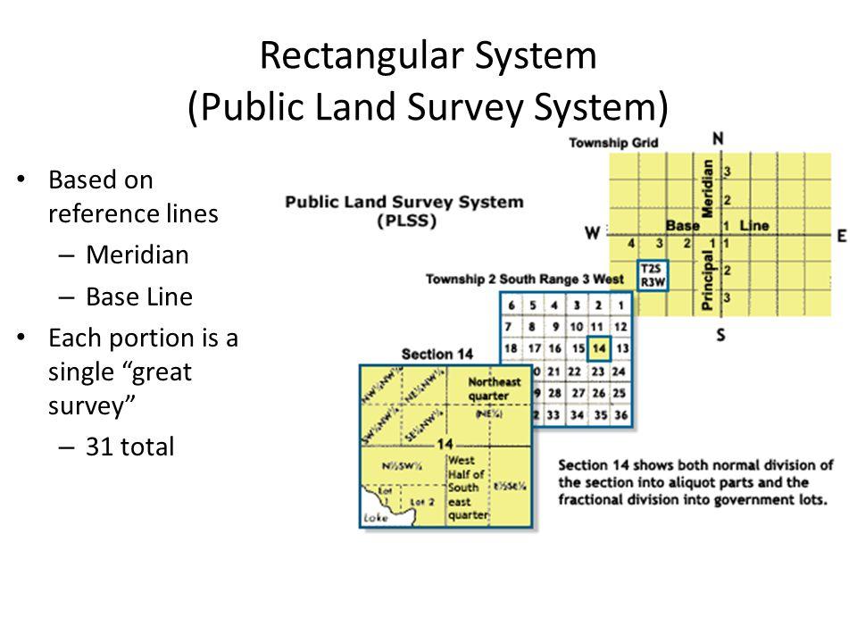 Rectangular System (Public Land Survey System)