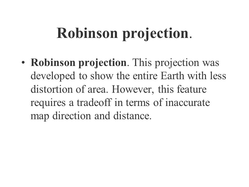 Robinson projection.