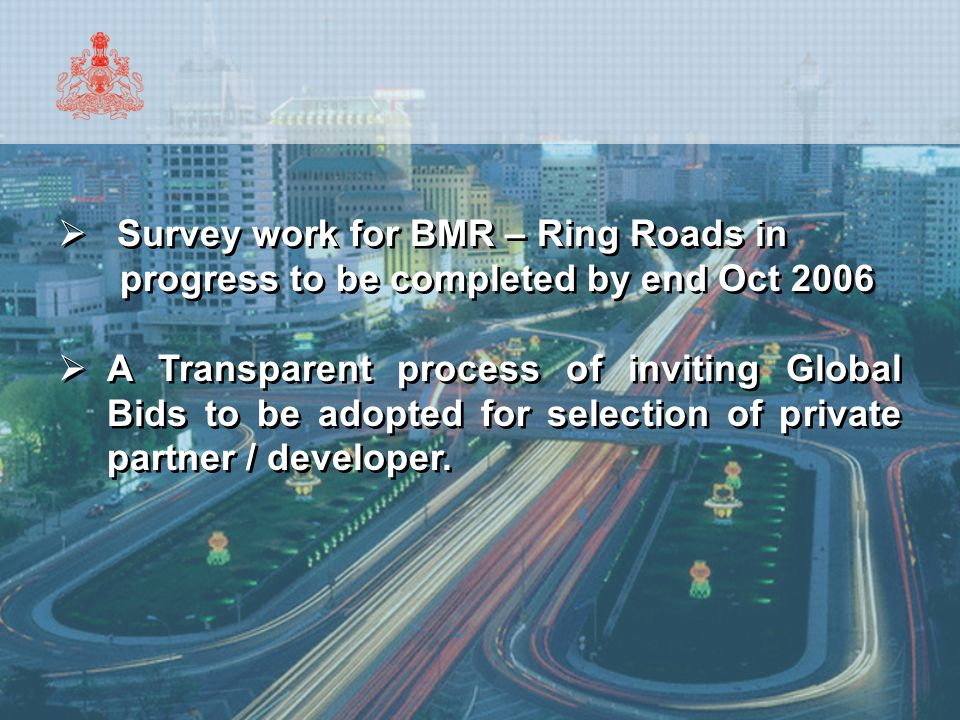 Survey work for BMR – Ring Roads in