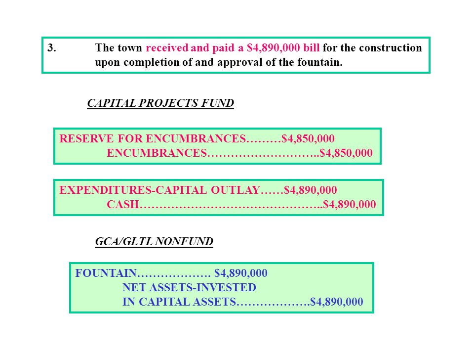 3. The town received and paid a $4,890,000 bill for the construction