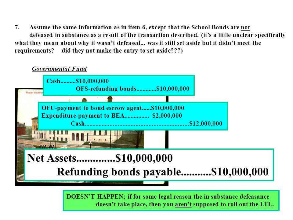 Refunding bonds payable...........$10,000,000