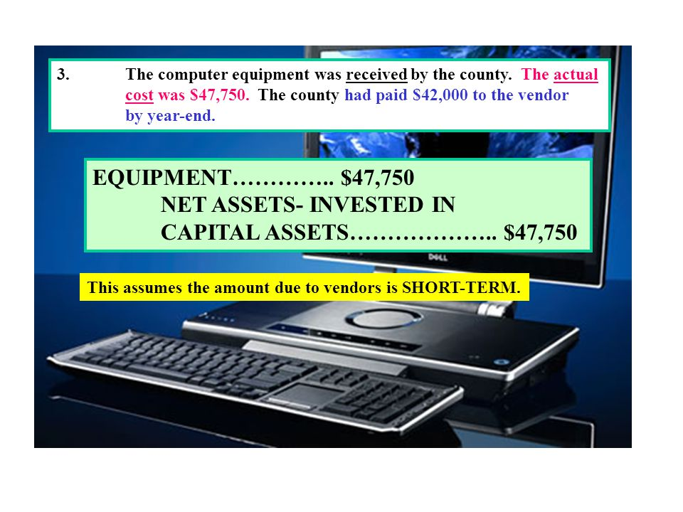 NET ASSETS- INVESTED IN CAPITAL ASSETS……………….. $47,750