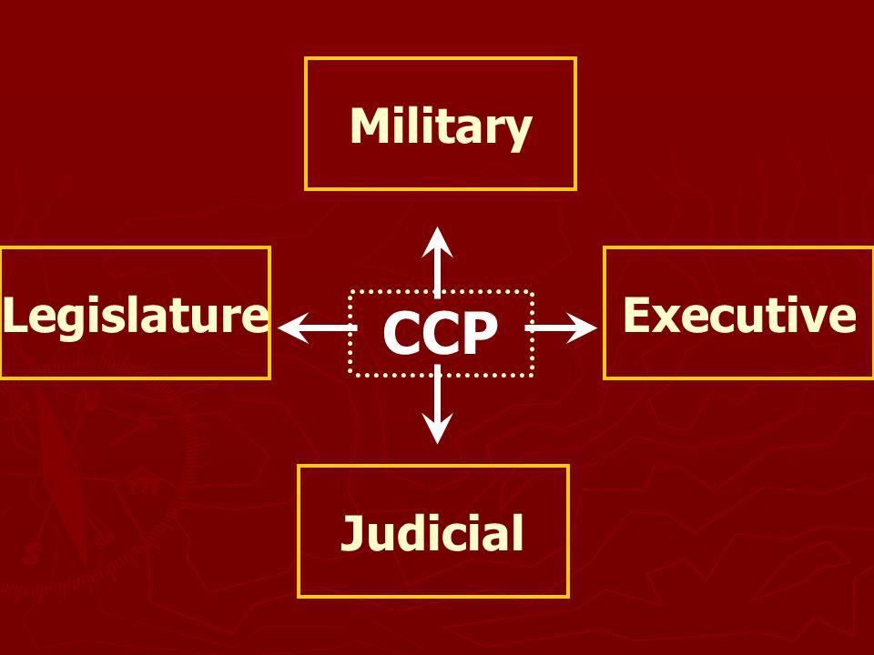 Military Legislature Executive CCP Judicial