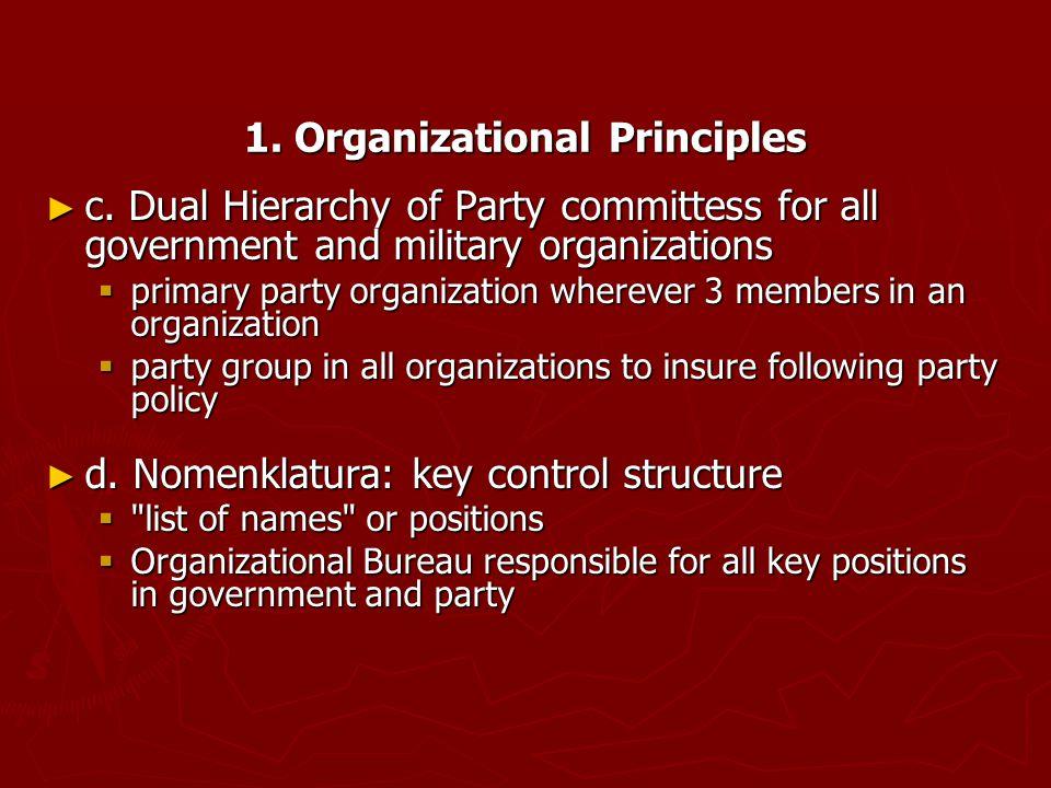 1. Organizational Principles