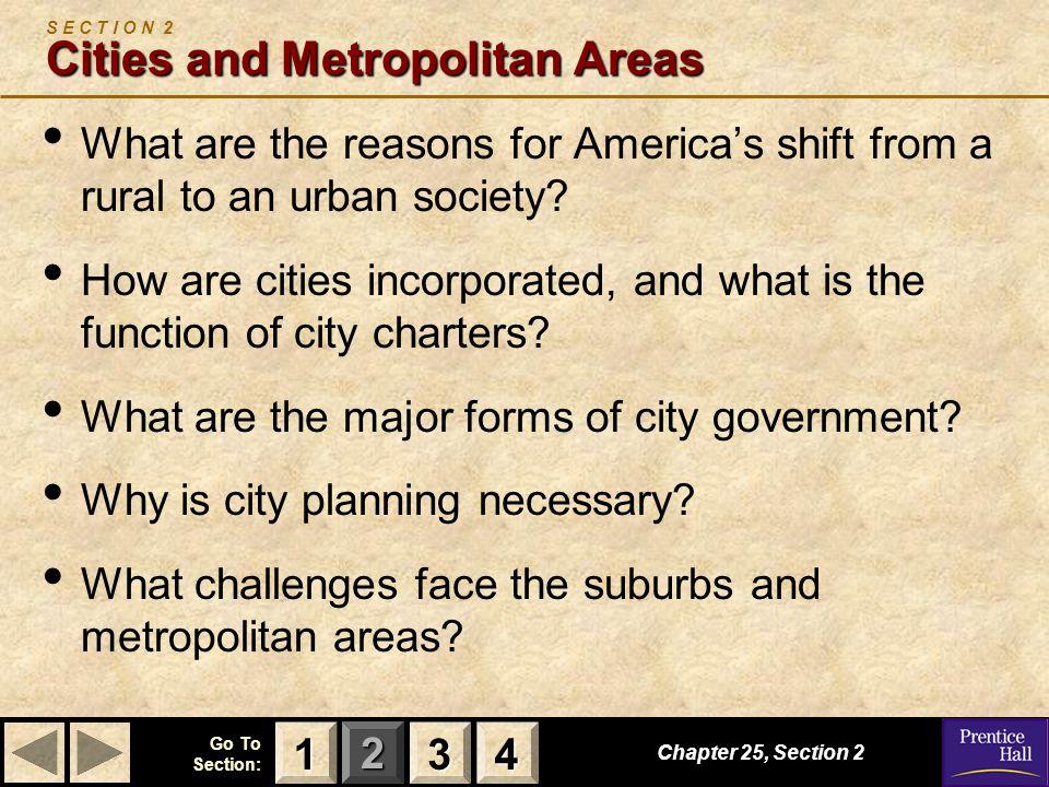 S E C T I O N 2 Cities and Metropolitan Areas