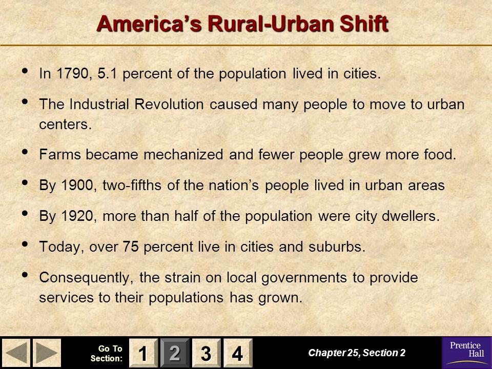 America's Rural-Urban Shift