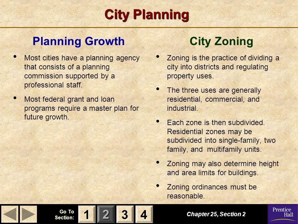 City Planning 1 3 4 Planning Growth City Zoning