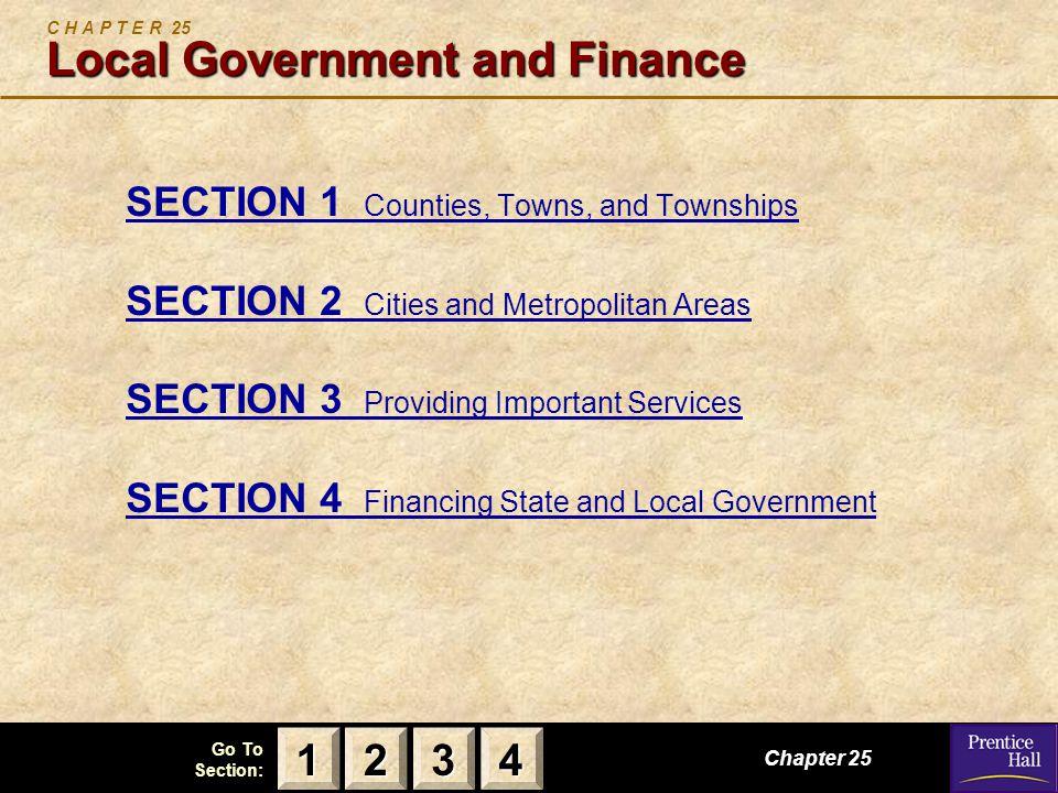 C H A P T E R 25 Local Government and Finance