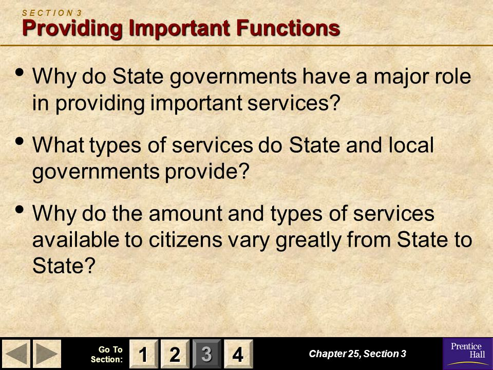 S E C T I O N 3 Providing Important Functions