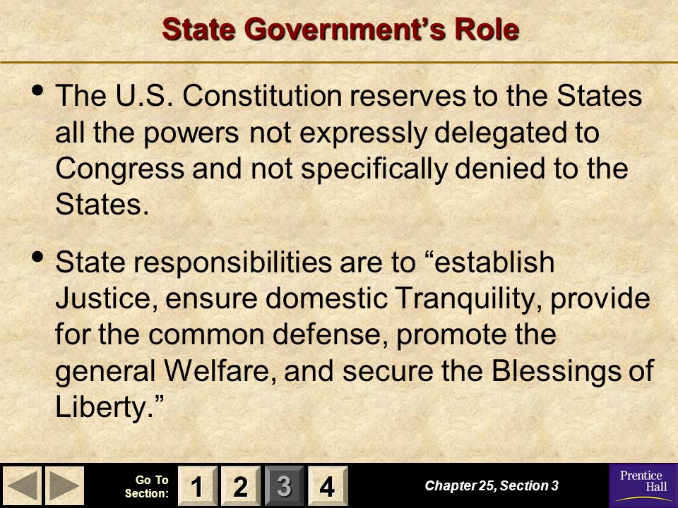 State Government's Role