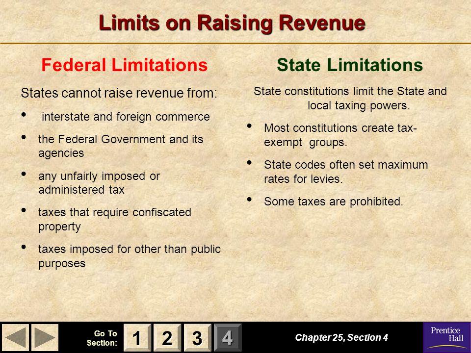 Limits on Raising Revenue