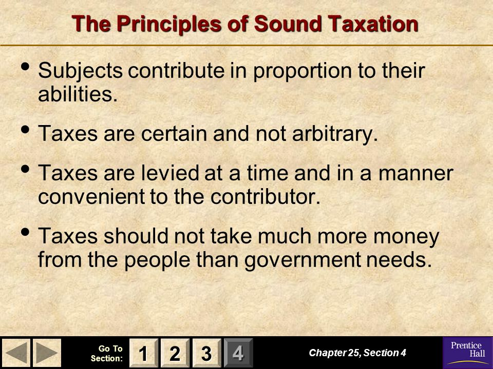 The Principles of Sound Taxation