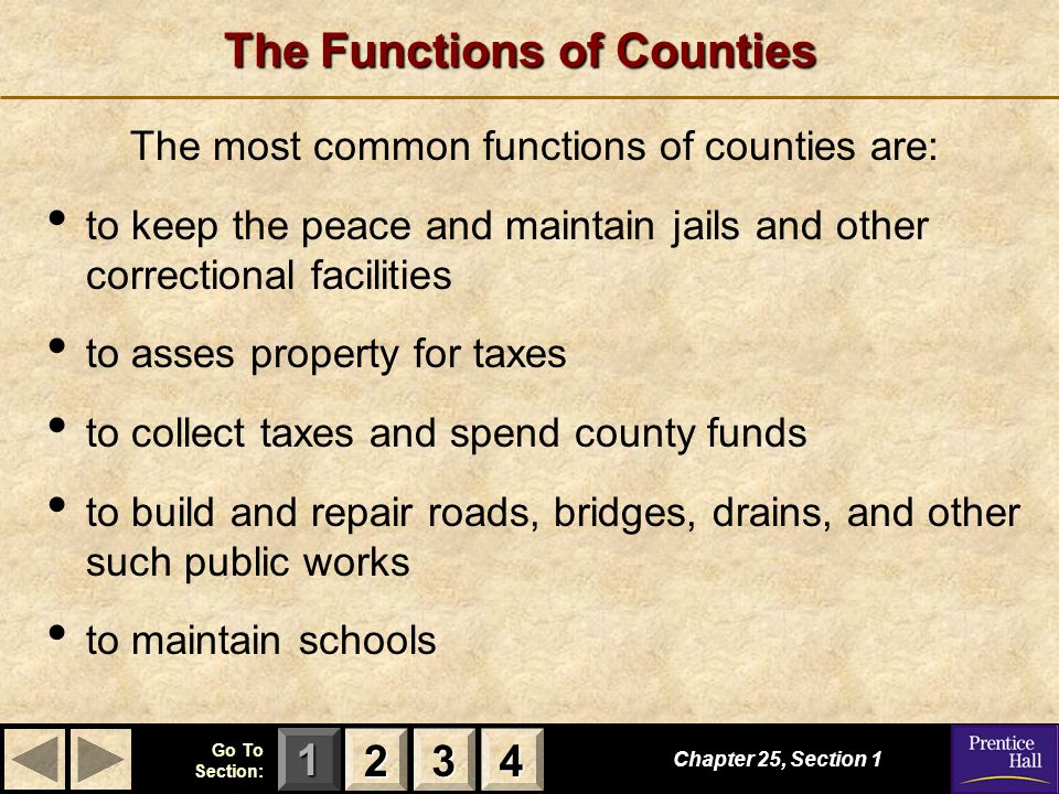 The Functions of Counties