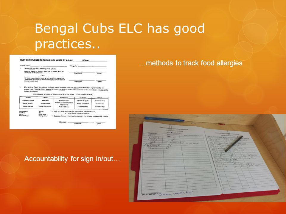 Bengal Cubs ELC has good practices..