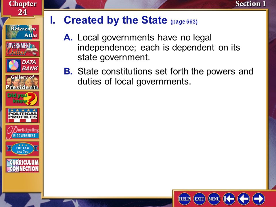 I. Created by the State (page 663)