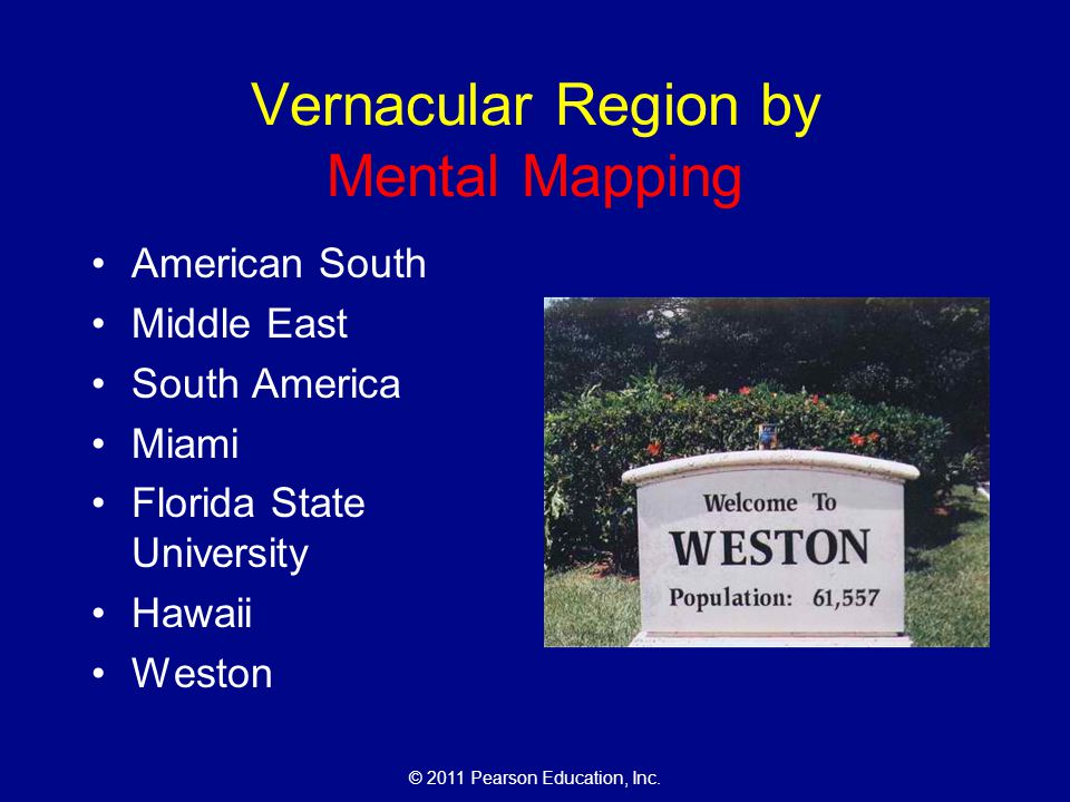 Vernacular Region by Mental Mapping