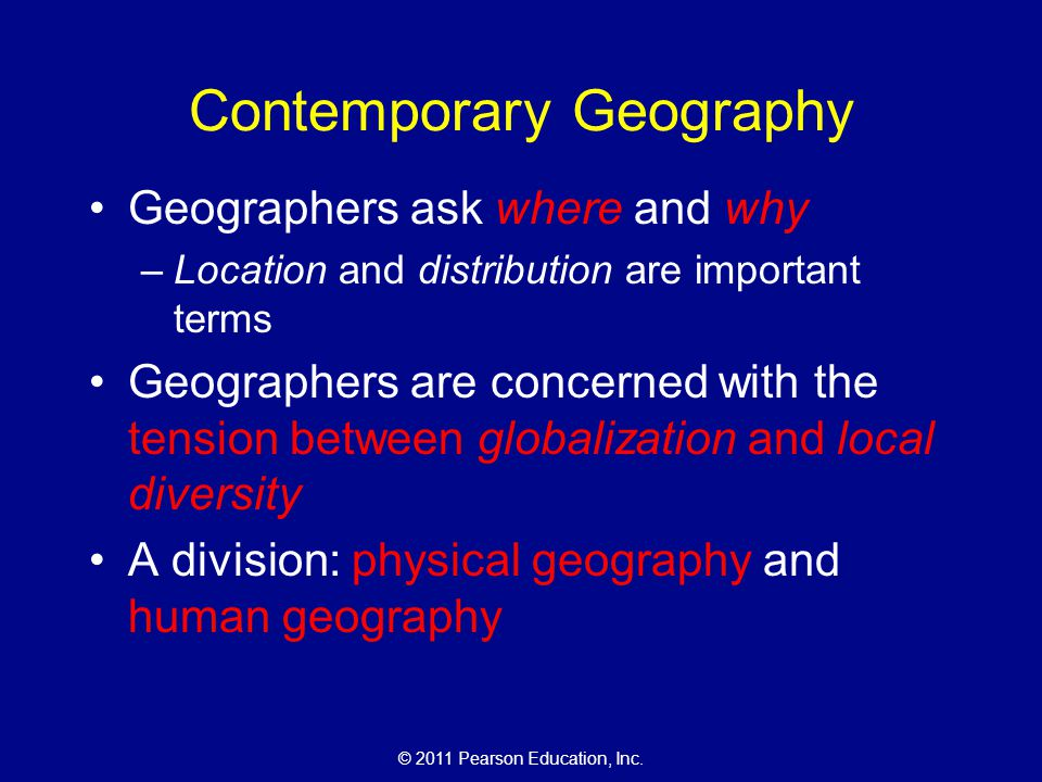 Contemporary Geography