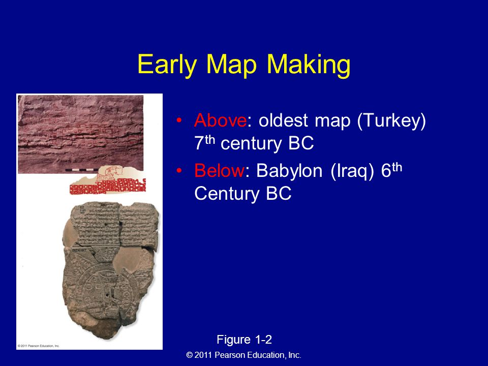 Early Map Making Above: oldest map (Turkey) 7th century BC