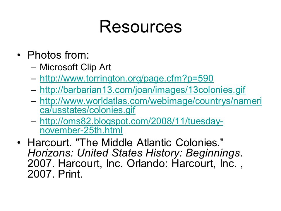 Resources Photos from: