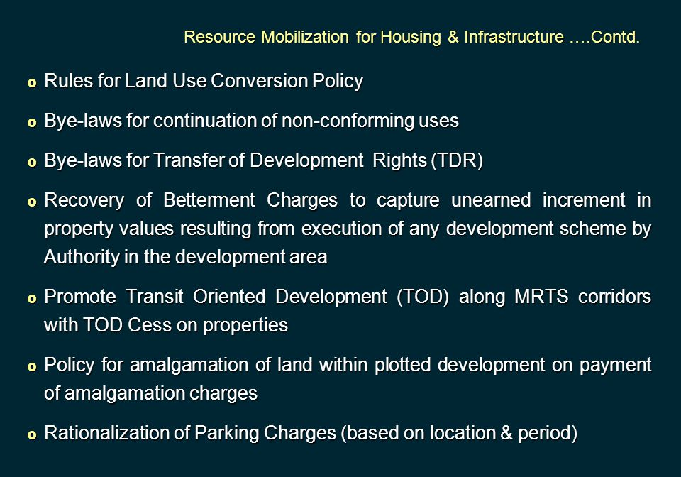 Rules for Land Use Conversion Policy