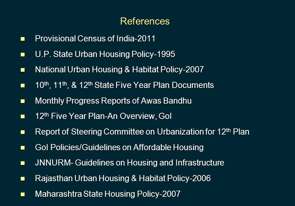 References Provisional Census of India-2011