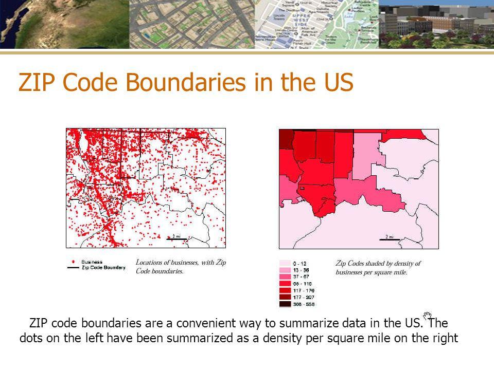 ZIP Code Boundaries in the US