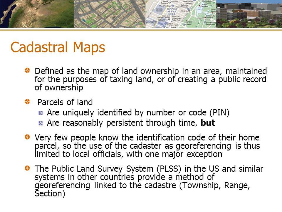 Cadastral Maps