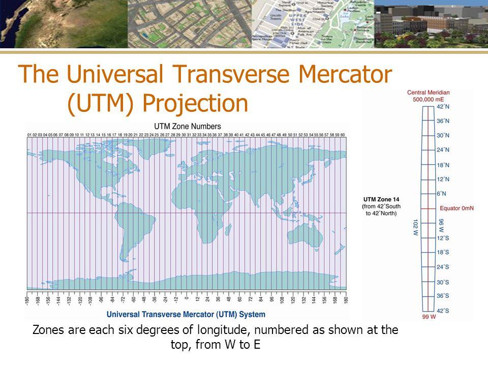 The Universal Transverse Mercator (UTM) Projection
