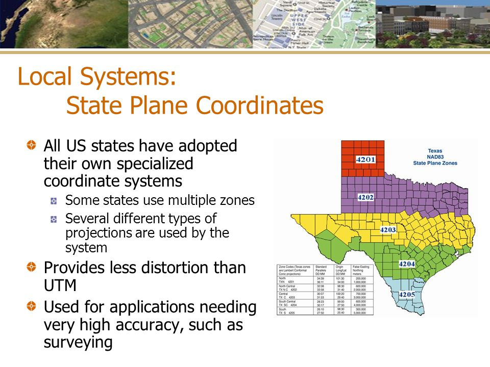 Local Systems: State Plane Coordinates