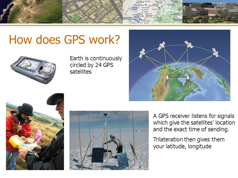 How does GPS work Earth is continuously circled by 24 GPS satellites